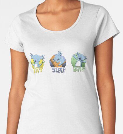 Cute Koala - Eat Sleep Repeat Premium Scoop T-Shirt