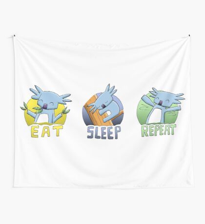 Cute Koala - Eat Sleep Repeat Wall Tapestry