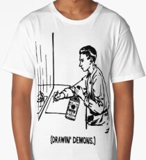 Me and Whiskey Drawing Demons Long T-Shirt