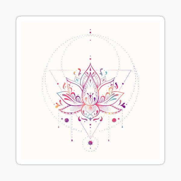 Lotus Prism Sticker