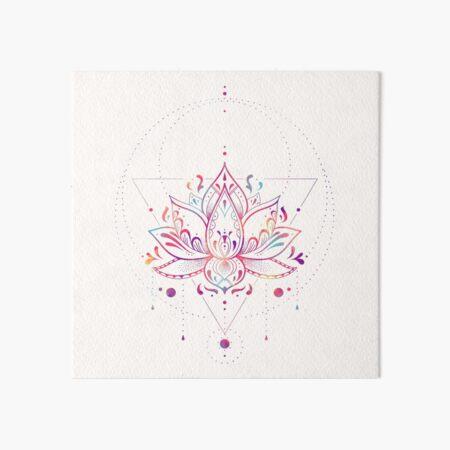 Lotus Mandala Tattoo Wall Art Redbubble