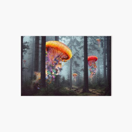 Forest of Jellyfish Worlds Art Board Print