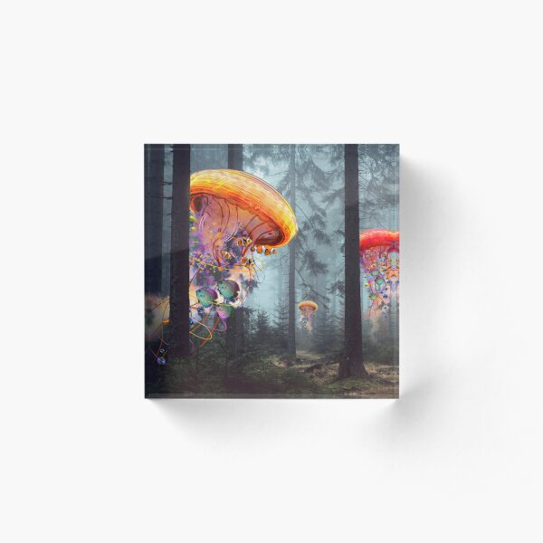 Forest of Jellyfish Worlds Acrylic Block