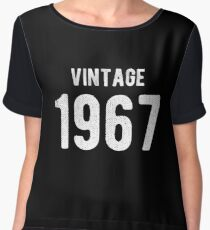 Retro Vintage 1967 Awesome 50th Birthday Gift Women's Chiffon Top