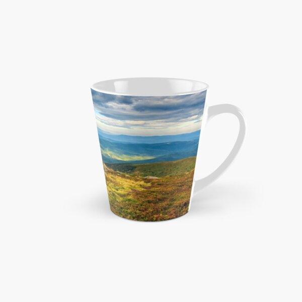 huge stones on the meadow on top of mountain ridge Tall Mug
