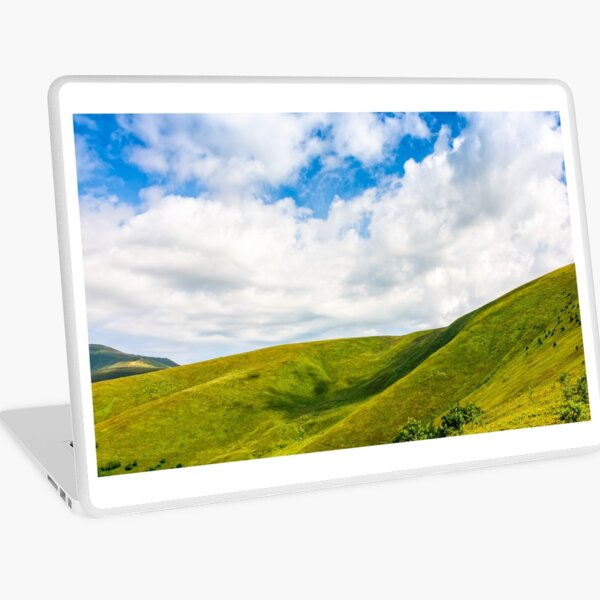 beautifull minimalistic summer mountain landscape in good weather Laptop Skin