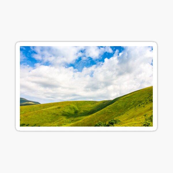 beautifull minimalistic summer mountain landscape in good weather Sticker