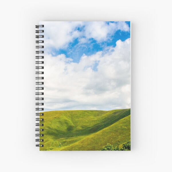 beautifull minimalistic summer mountain landscape in good weather Spiral Notebook