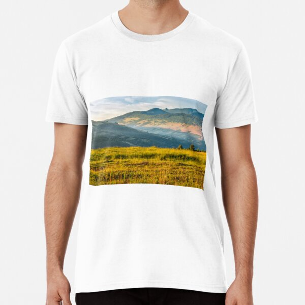 agricultural field in mountains Premium T-Shirt