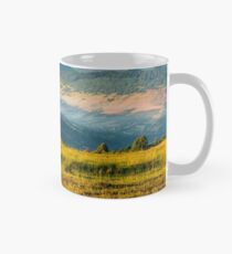 agricultural field in mountains Mug