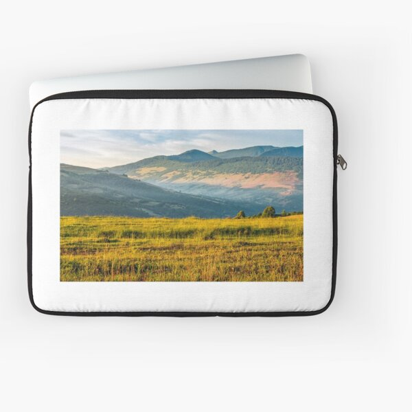 agricultural field in mountains Laptop Sleeve