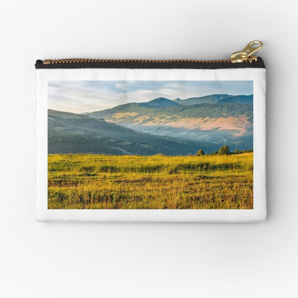 agricultural field in mountains Zipper Pouch