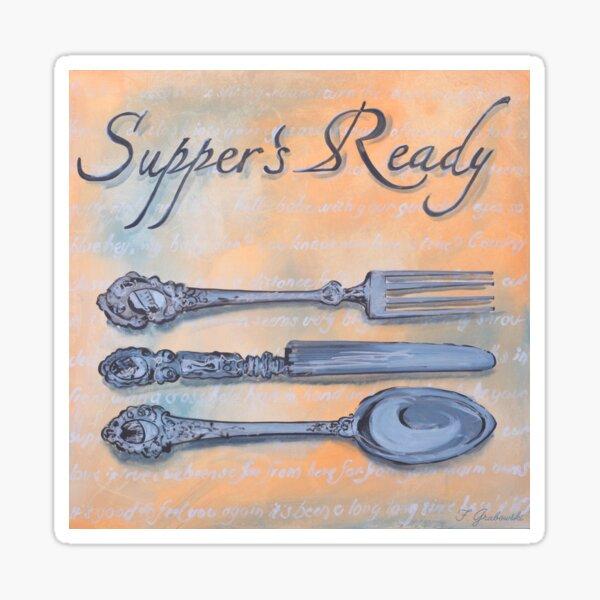 Genesis Fanart Supper's Ready from Foxtrott by Frank Grabowski Sticker