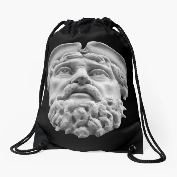 Hat and Beard Man Drawstring Bag
