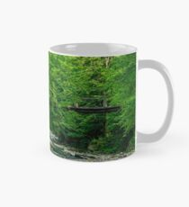 bridge over the forest river Mug