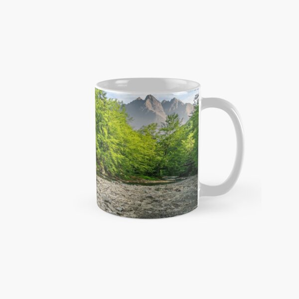 rorest near the river in mountains Classic Mug