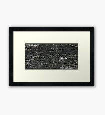 HDR Composite - Picnic Table Top Decay Texture Framed Print