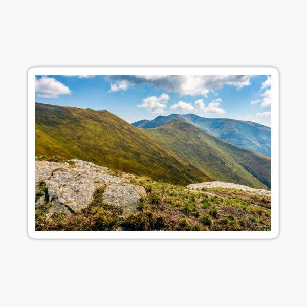 stones on the edge of mountain cliff Sticker