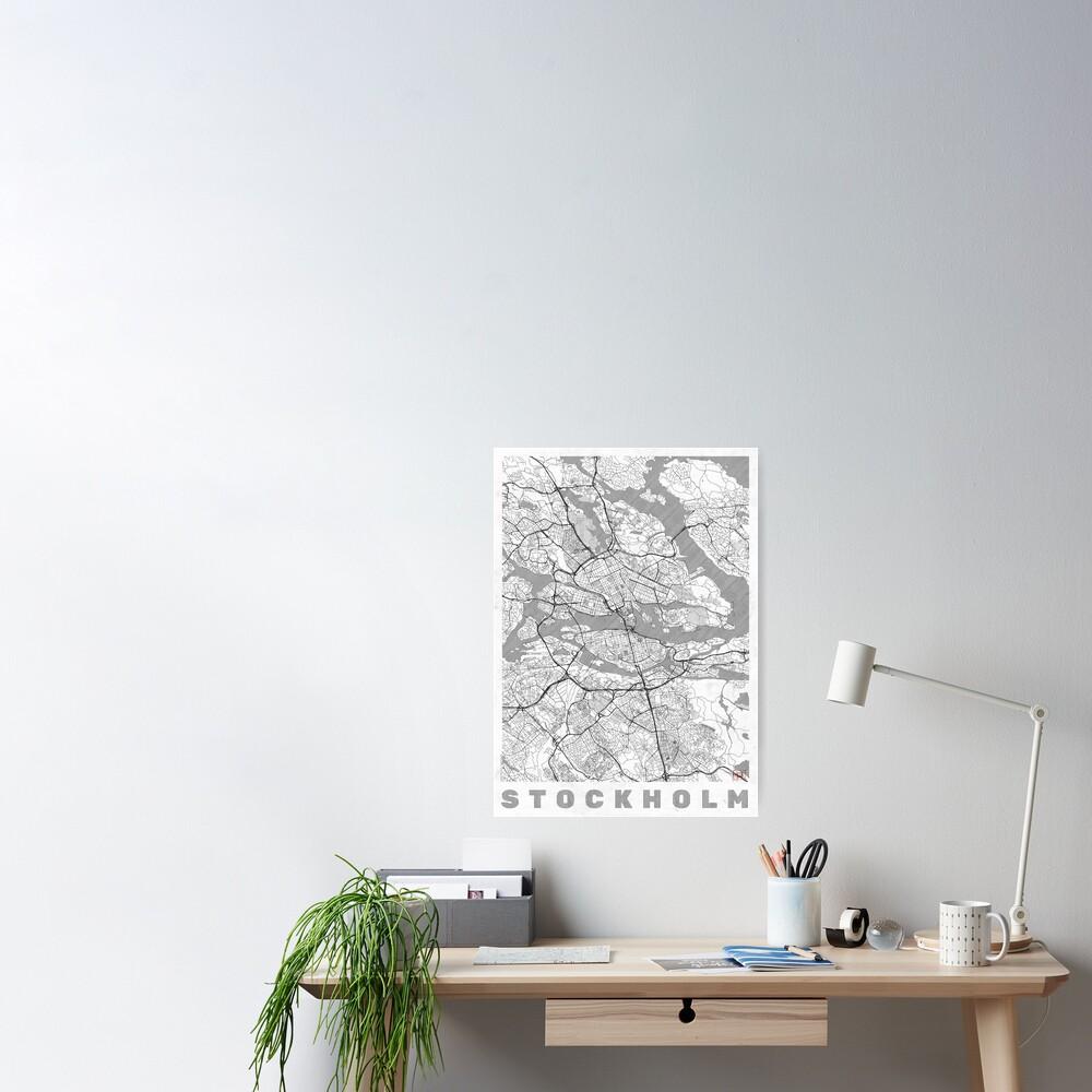 Stockholm Map Line Poster