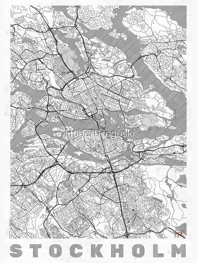 Stockholm Map Line by HubertRoguski