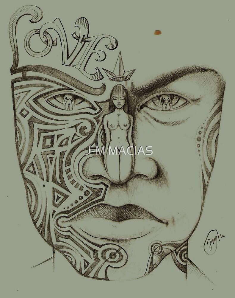 l'homme tatoué by J-M MACIAS