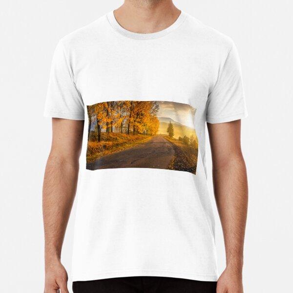 mountain road to village in mountains Premium T-Shirt
