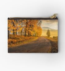 mountain road to village in mountains Studio Pouch
