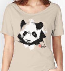 Panda - Black and White - Habu-San Design Women's Relaxed Fit T-Shirt