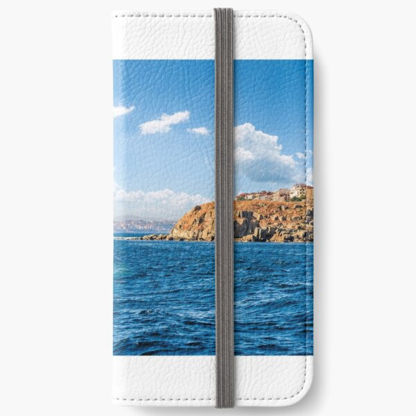 town on a cliff above the seashore iPhone Wallet