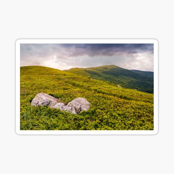 high mountain landscape Sticker