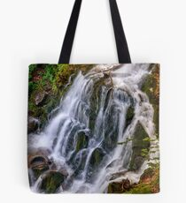 waterfall Shypot in Carpathian forest Tote Bag