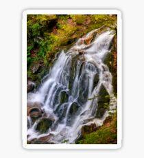 waterfall Shypot in Carpathian forest Sticker