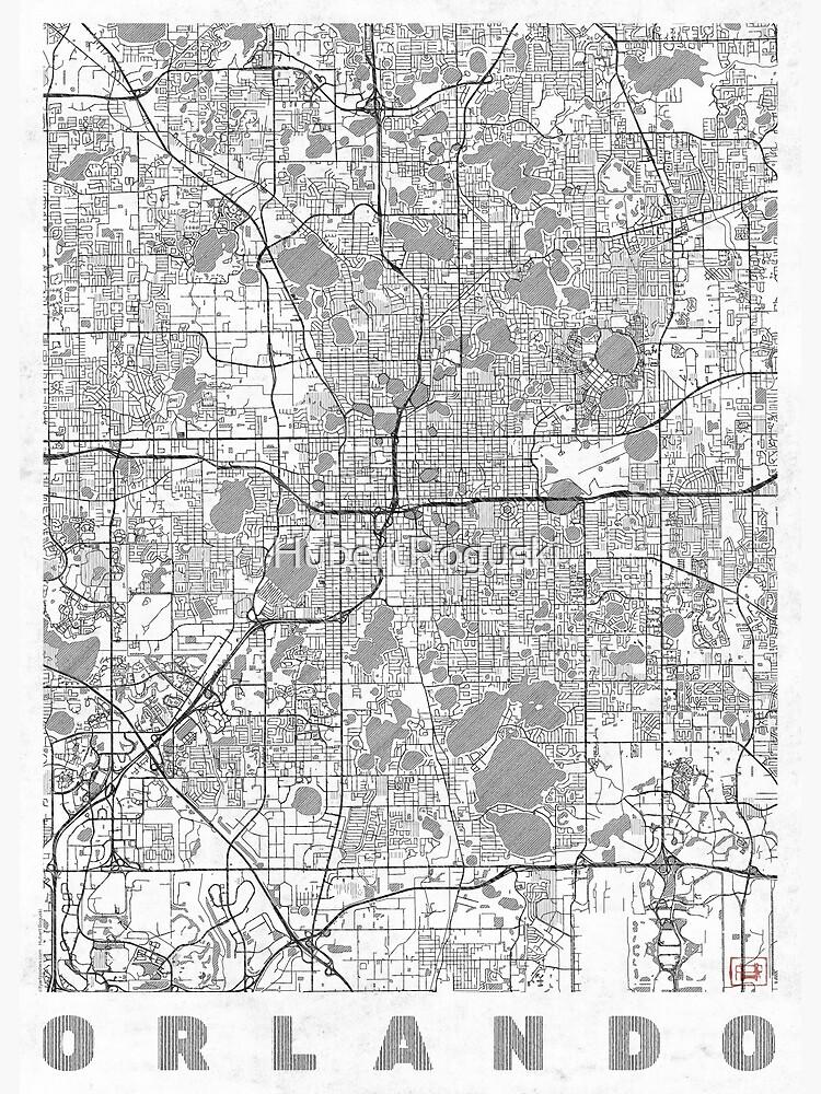 Orlando Map Line by HubertRoguski