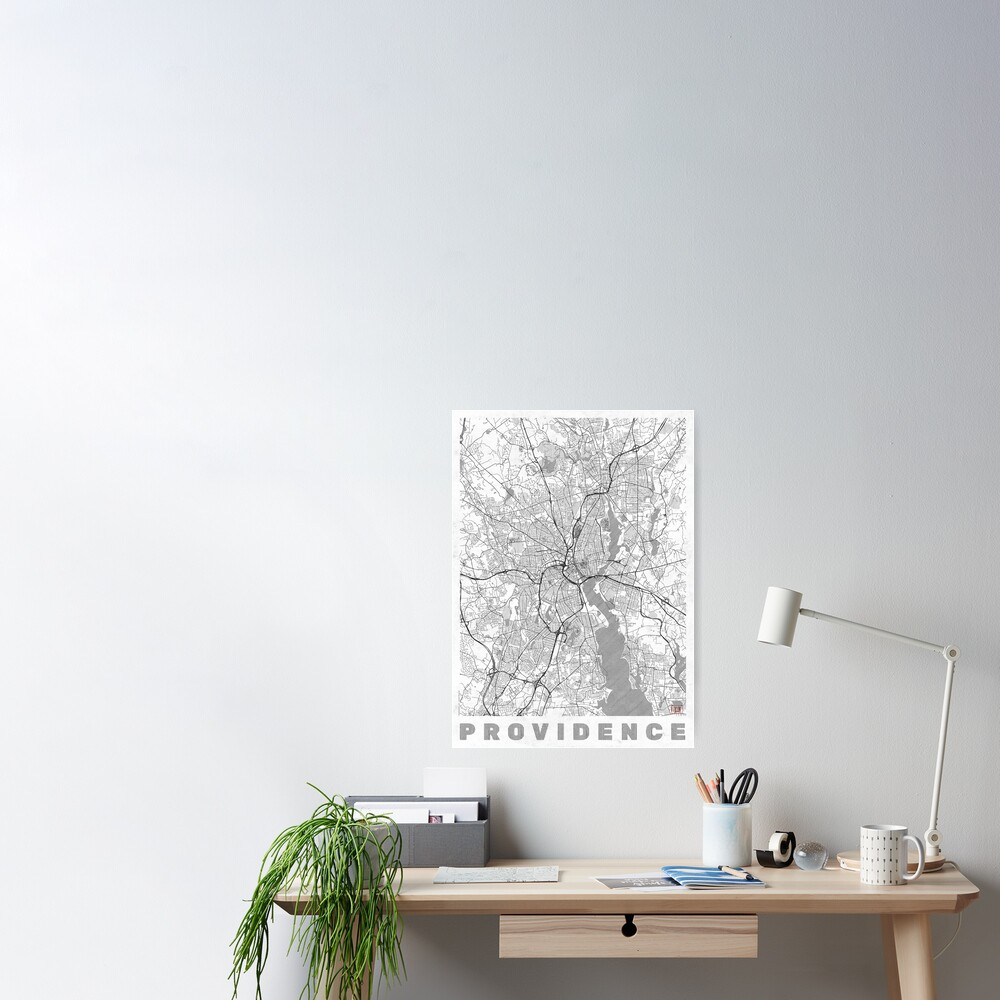 Providence Map Line Poster
