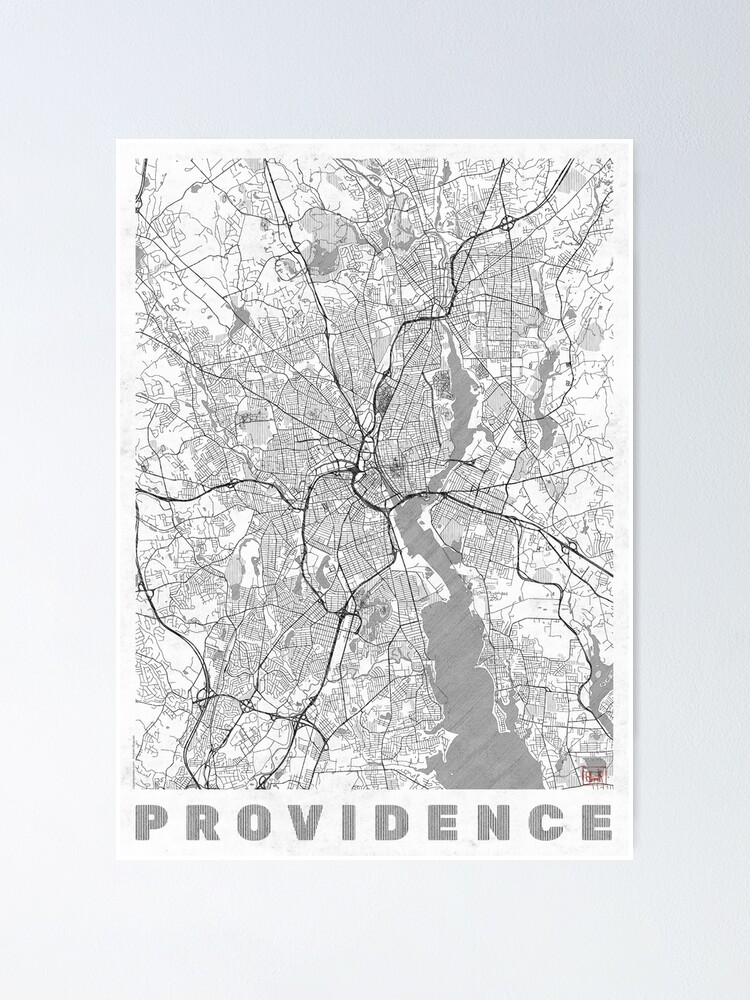 Alternate view of Providence Map Line Poster