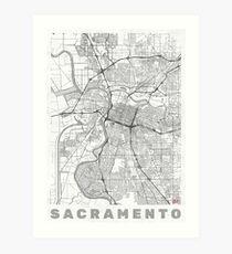 Sacramento Map Line Art Print