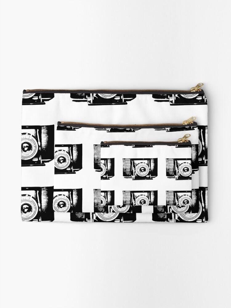 Alternative Ansicht von Old fashioned camera Täschchen
