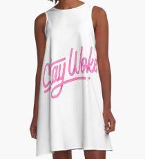 Stay Woke - Hand Lettering Type Design A-Line Dress