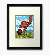 The Snake in the Grass Framed Print