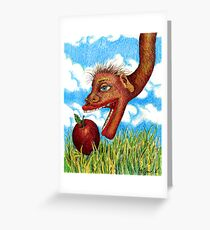 The Snake in the Grass Greeting Card