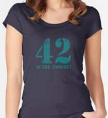 42 is the answer to everything (Rusted version) Women's Fitted Scoop T-Shirt