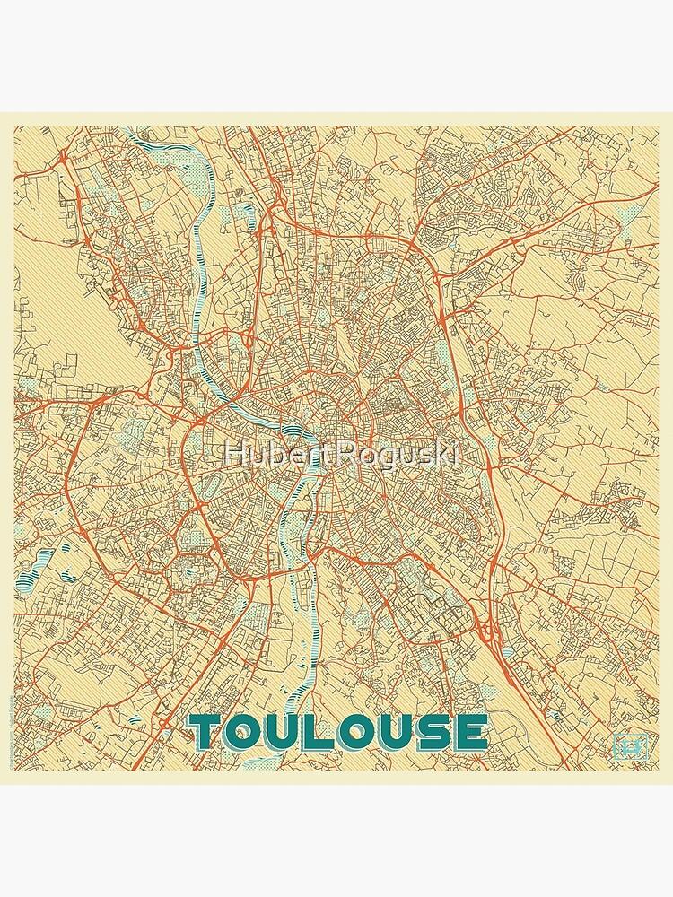 Toulouse Map Retro by HubertRoguski