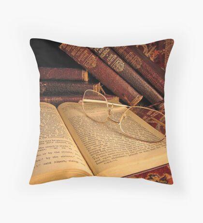Victorian Books Throw Pillow