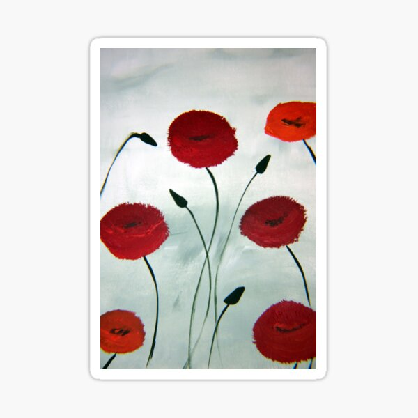 Pretty Poppy Sticker