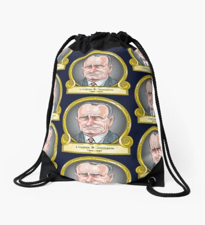 President Lyndon B. Johnson  Drawstring Bag