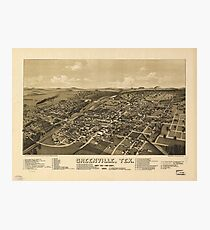 Aerial View of Greenville, Texas (1886) Photographic Print