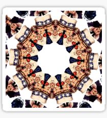 Uncle Sam Pointing Finger Kaleidoscope Pattern Sticker