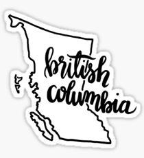 British Columbia Outline Sticker