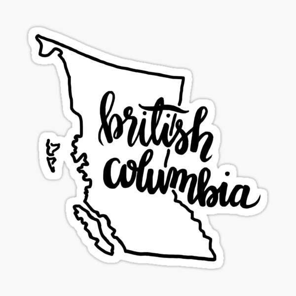 British Columbia Outline Sticker