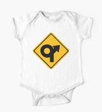 U-Turn Sign Do Donuts One Piece - Short Sleeve